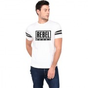 TRENDS TOWER Half Sleeve Round Neck Mens T-Shirt White Color Rebel Sport Graphics Print