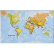 Wereldkaart 62P-zvl Politiek, 68 x 45 cm | Maps International