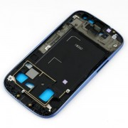 Frame ou carcaça intermédia Samsung Galaxy SIII S3 i9300 azul