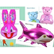 king's store Forest animal party big party Aluminum foil balloons, a giant rabbit balloon,Teddy bear balloon, shark balloon , bright color, vivid, free of charge rhubarb duck, a children's favorite