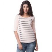 Cult Fiction Striped Women's Scoop Neck T-Shirt