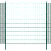 vidaXL Panneaux et poteaux de clôture 2D pour jardin 2008x2030 mm 34 m