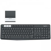 Клавиатура Logitech K375s Multi-Device Wireless Keyboard and Stand Combo, Graphite/Offwhite, 920-008185