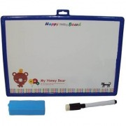 SHRIBOSSJI Educational 2 in 1 Slate with White and Black Board - Premium Range (Multicolor)