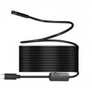 Louiwill 8 Mm 720 P Megapíxeles HD Inalámbrico 2in1 USB TYPE-C Endoscopio Endoscopio, Cámara De Serpiente De Inspección A Prueba De Agua Para Android / MacBook OS Con 8pcs LED De Brillo Ajustable, 10 M