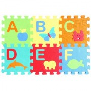 Bauzooka 6-Inch English Alphabets A to Z Numbers 1 to 10 Kids Puzzle Play Mats Multicolor Foam with Added Fragrance (3