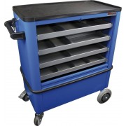 HAROMAC Werkstattwagen WW24R blau 4 Schubladen, Zylinderschloss