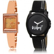 The Shopoholic Rose Gold Black Combo Best Combo Pack Rose Gold And Black Dial Analog Watch For Girls Women. Watches