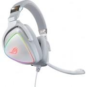 Casti gaming ROG Delta, RGB, Hi-Res SSE Quad-DAC, difuzoare ASUS Essence 50mm, compatibile multiplatforma, USB-C/USB 2.0, pliabile, Alb