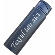 Bricheta metal antivant rotunda neagra gravata cu textul tau r2