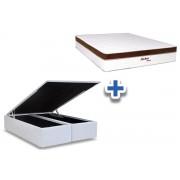 Conjunto-Colchão Molas Pocket Astro+Cama Box Baú - Queen 158