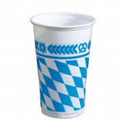 Pahar din plastic, color, 200ml, 12 buc/set, HERLITZ Bavaria