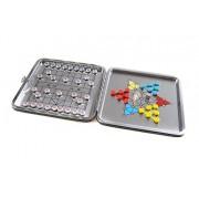 "Attica Alu Series: aluminium leather box ""2-in-1 game set D"": Xiangqi, Halma / Chinese Checkers - wi"