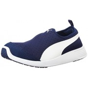 Puma Men's ST Trainer Evo Peacoat and Puma White Sneakers - 9 UK/India (43 EU)