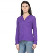 Fashion Era Women Purple color Top With High Quality of Fabric and Modern Western Look Official Regular Use Full Sleeve