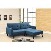 Холов ъгъл Мебели Богдан модел 4-Floid BM, размер: 84-156 / 200 / 83 см, цвят: син