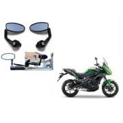 Kunjzone Premium Quality Motorycle Bar End Mirror Rear View Mirror Oval for Kawasaki Versys 1000