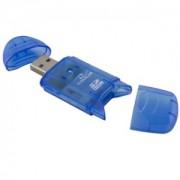 Card Reader Esperantza TITANUM SDHC/MiniSDHC/MicroSDHC/RS/MM TA101B lbastru USB 2.0