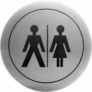 Nofer Информационная табличка Nofer Туалет для мужчин и женщин 16722.2.S