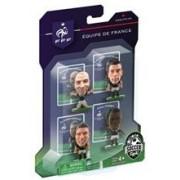 Figurine SoccerStarz France 4 Figurine Benzema Giroud Koscielny And Pogba 2014