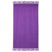Linnea Drap de plage Fouta 100x180 cm 100% coton 340 g/m² PULA Motifs cristaux Violet