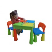 Liberty House Toys 5-in-1 Activity Table and Chairs with Writing Top/Lego/Sand/Water/Storage by Liberty House Toys