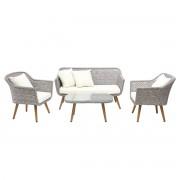 Salón de jardín diseño gris escandinavo AJACCIO - Miliboo