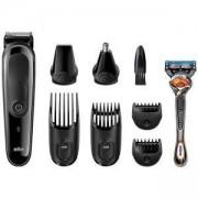 Тример за лице и коса Braun MGK3060, 8 в 1 + Самобръсначка Gillette Fusion ProGlide, B01MRSVU74