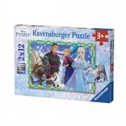Ravensburger Frozen Puzzle 2x12 pezzi (07621)