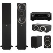 Pachete PROMO SURROUND - Q Acoustics - 3050i pachet 5.0 + Denon AVR-X2600H Carbon Black