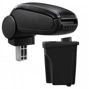 [pro.tec]® Lakťová opierka pre Hyundai I30 GD - lakťová opierka - s odkladacím priestorom - koženka - čierna, biele prešitie