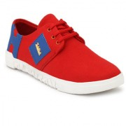 Casual Red Sneaker Styles Shoe For Men's