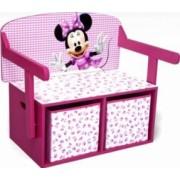 Mobilier 2 in 1 pentru depozitare jucarii Disney Minnie Mouse