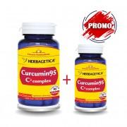 HERBAGETICA CURCUMIN (turmeric) 95 C3 COMPLEX 60 capsule + 30 capsule PROMO