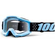 100% Accuri Taichi Óculos de motocross Preto Azul único tamanho