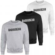 Baroudeur Sweatshirt - Black - M - White