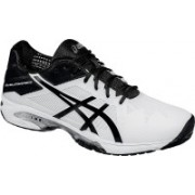 Asics Gel-Solution Speed 3 Men Tennis Shoes For Men(White, Black, Silver)