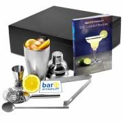 Set cadou Cocktail Manhattan Nights (5 piese) + cartea 100 Retete de cocktail