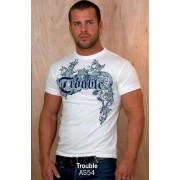 Ajaxx63 Athletic Fit T Shirt Trouble AS54