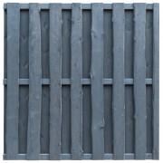 vidaXL Panou de gard cu șipci alternative gri 180x180 cm lemn pin FSC