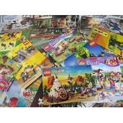 Mix of 20 Lego Instruction Books - 1980s-2000s Star Wars, Ninjago, Harry Potter, Castle, City, Town,