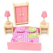 Kids House Play Wooden Children Doll Houses Toys (Bedroom) Price Give 2 Dolls For Free