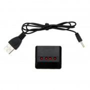 tiendatec KIT 4 BATERIAS CON CARGADOR USB PARA JJRC H8 MINI