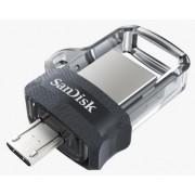 Stick USB Sandisk Ultra Dual Drive, 128GB, USB 3.0 (Gri)