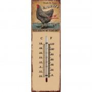 Thermomètre mural Poule