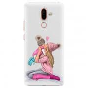 Plastové pouzdro iSaprio - Kissing Mom - Blond and Girl - Nokia 7 Plus