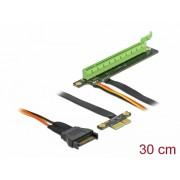 Riser Card PCI Express x1 la x16 + cablu flexibil 30cm, Delock 85762