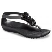 Crocs Serena Embellished TeenSlippers Damen Black / Black 39