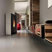Mcz LINEA estufa de pellet especialmente adecuada para pasillos o espacios estrechos 8.8 kW