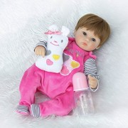 Funny House Handmade 17 Inch42CM Real Lifelike Reborn Baby Doll Real Soft Silicone Vinyl Newborn Dolls Toy Girl Free Magnetic Pacifier Xmas Gift